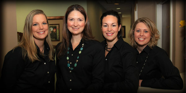 Front Office Staff: (from left) Tiffany, Christie, Erika, Ashley